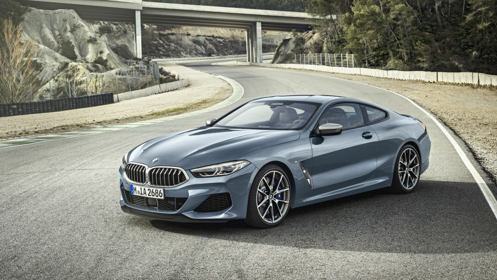 2019 BMW M8 - left front view