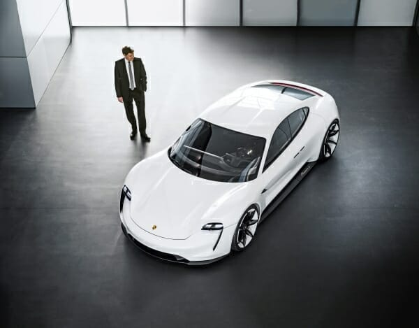 2019 Porsche Taycan - overhead view