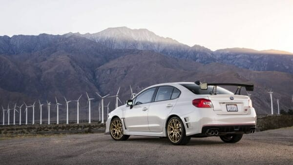 Subaru WRX STI S209 - left rear view