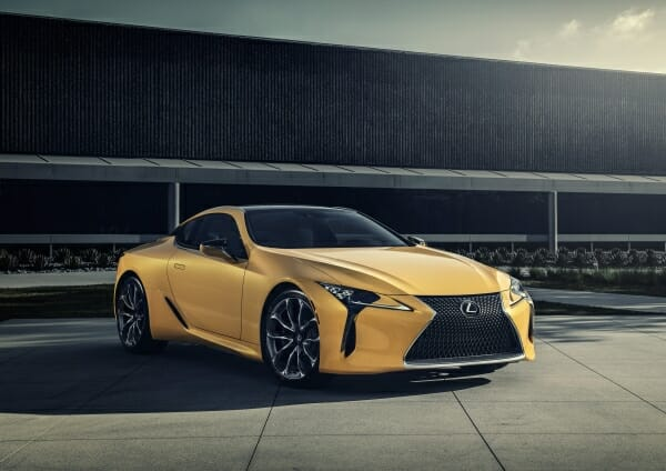 2019 LC 500 coupe - right front view