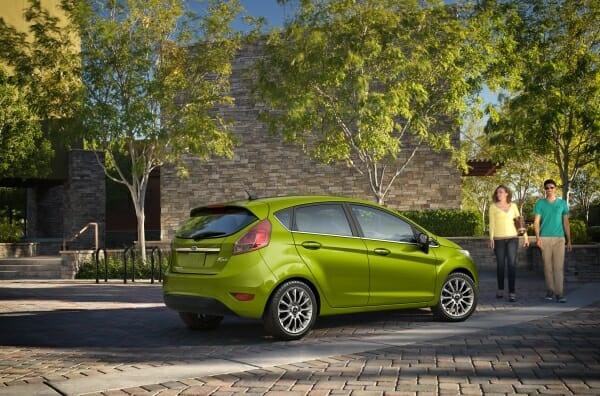 green 2019 Ford Fiesta hatchback