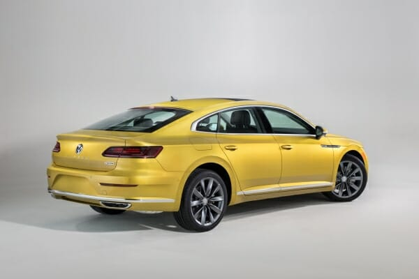 passenger side rear view gold 2019 Volkswagen Arteon