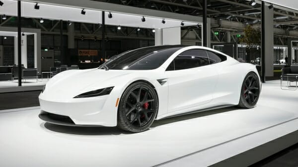 white 2020 Tesla Roadster