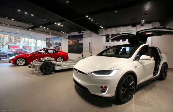 Tesla retail stores