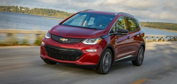 red 2019 Chevrolet Bolt EV