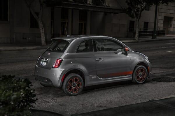 gray 2019 Fiat 500e