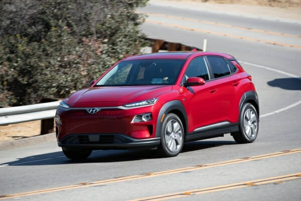 red 2019 Hyundai Kona Electric