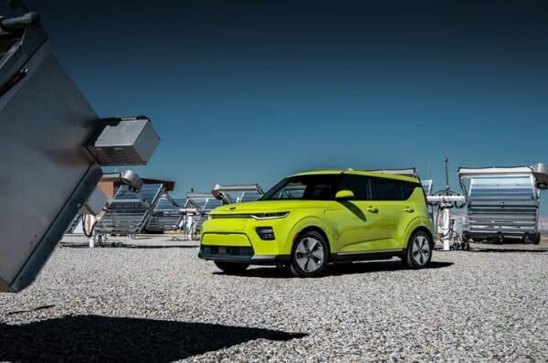green 2019 Kia Soul EV