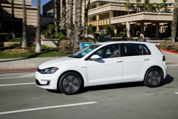 white 2019 Volkswagen e-Golf