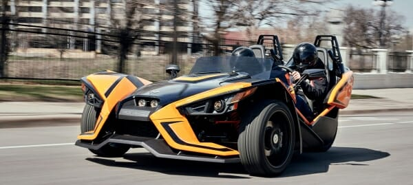 Test drive a Polaris Slingshot