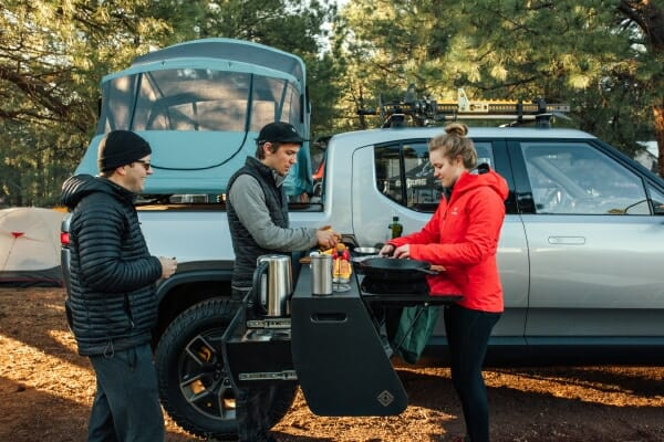 Rivian's electric camp kitchen