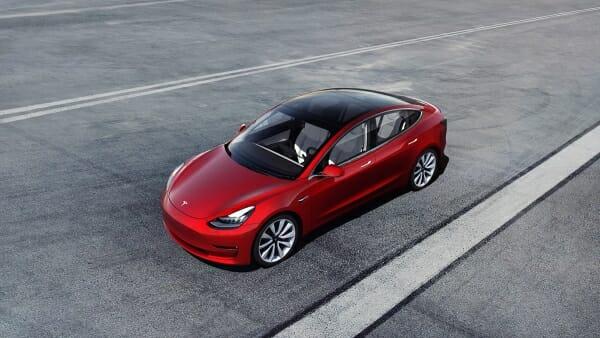 red 2019 Tesla Model 3