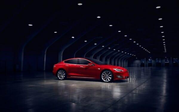 Red Tesla Model S