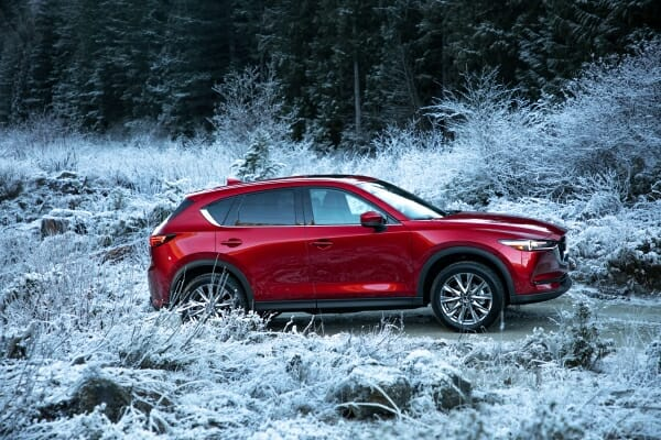 red 2019 Mazda CX-5 right side view