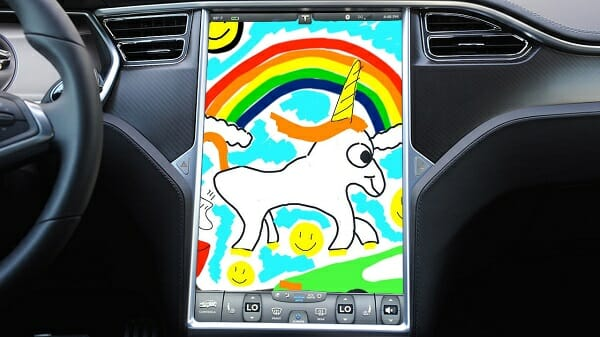 Tesla In-Car Sketchpad