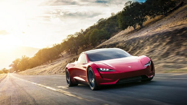 Tesla Roadster - right front view