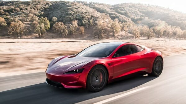 Tesla Roadster - left side view