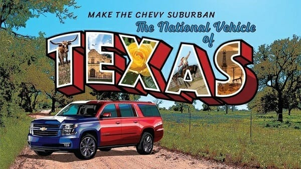 Official Vehicle of Texas