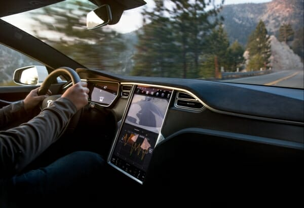 tesla big center touchscreen